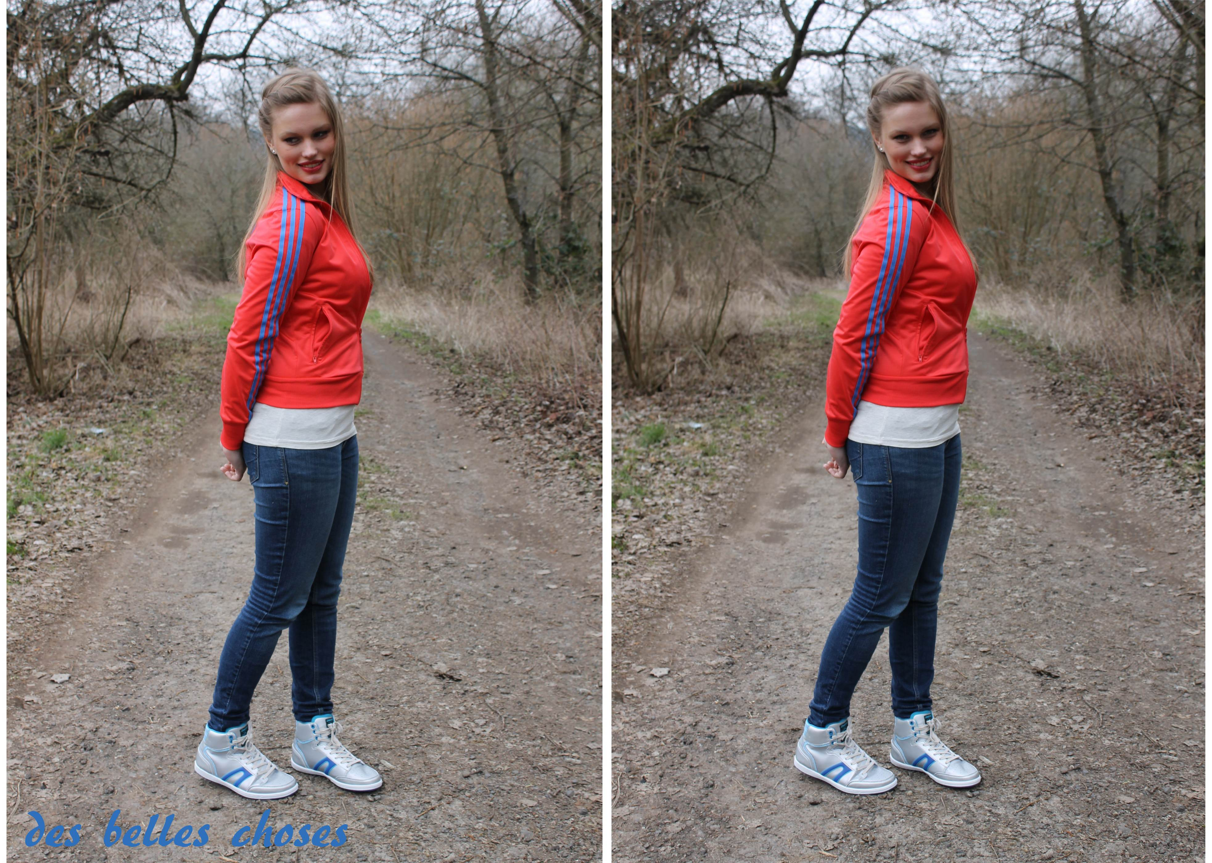 Outfit mit DooDogs Sneakers und Adidas Jacke