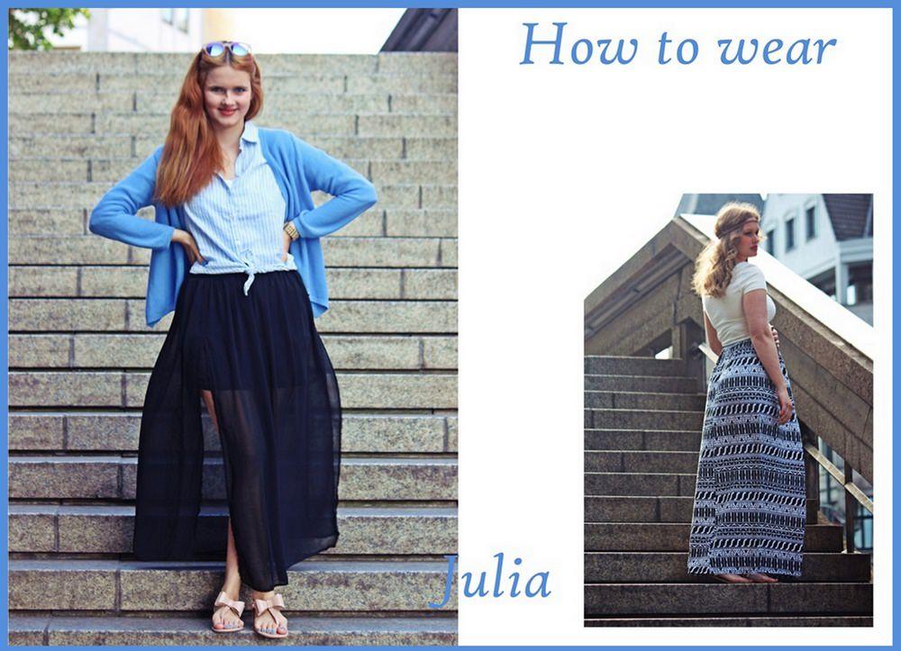 How to wear  Schwarzer, transparenter Maxi Rock e0d11700e8