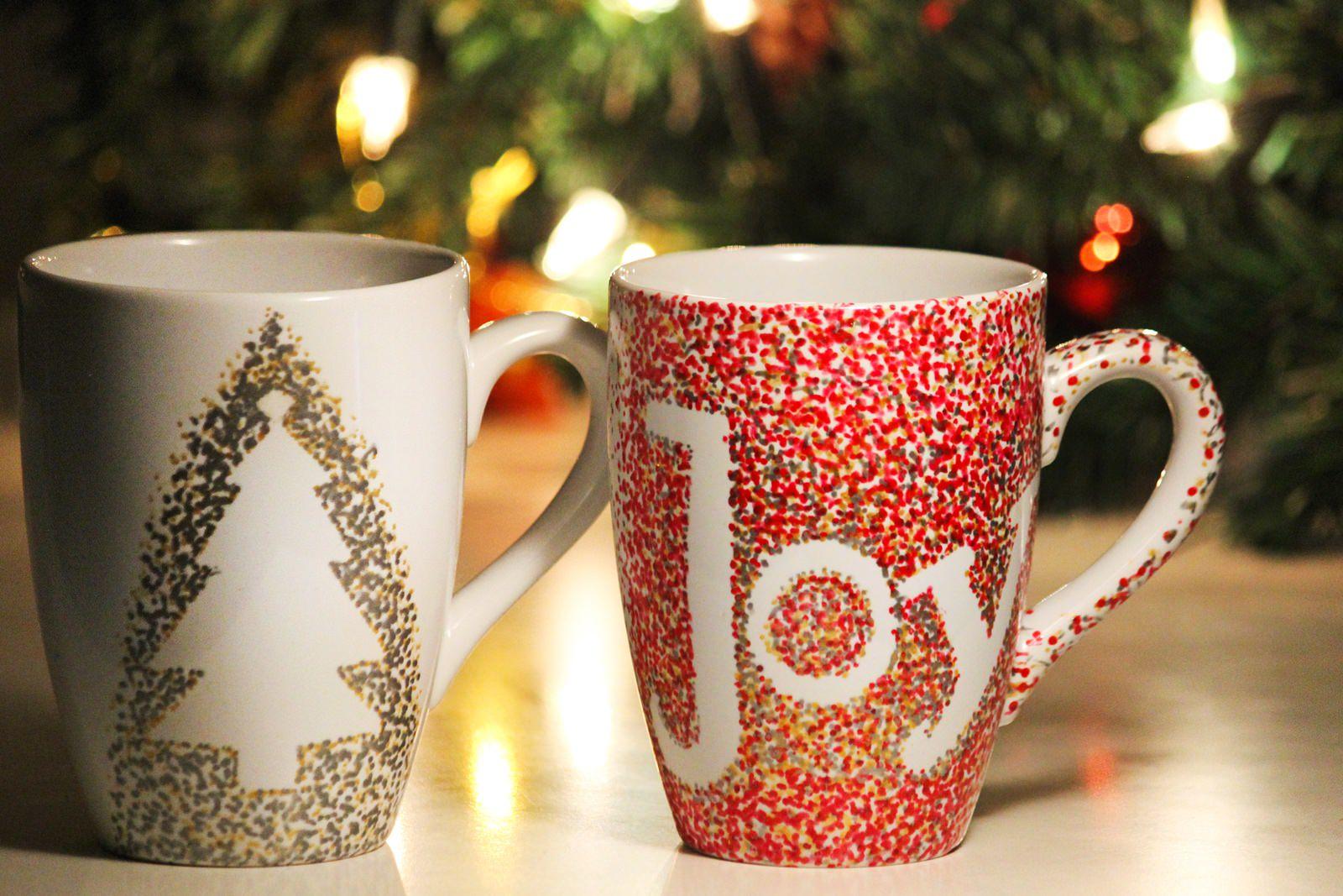 weihnachtliche diy idee meine christmas mugs des. Black Bedroom Furniture Sets. Home Design Ideas