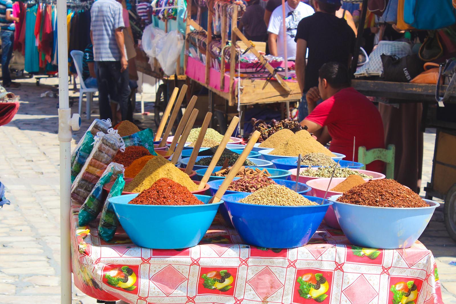 Gewürze auf dem Bazar