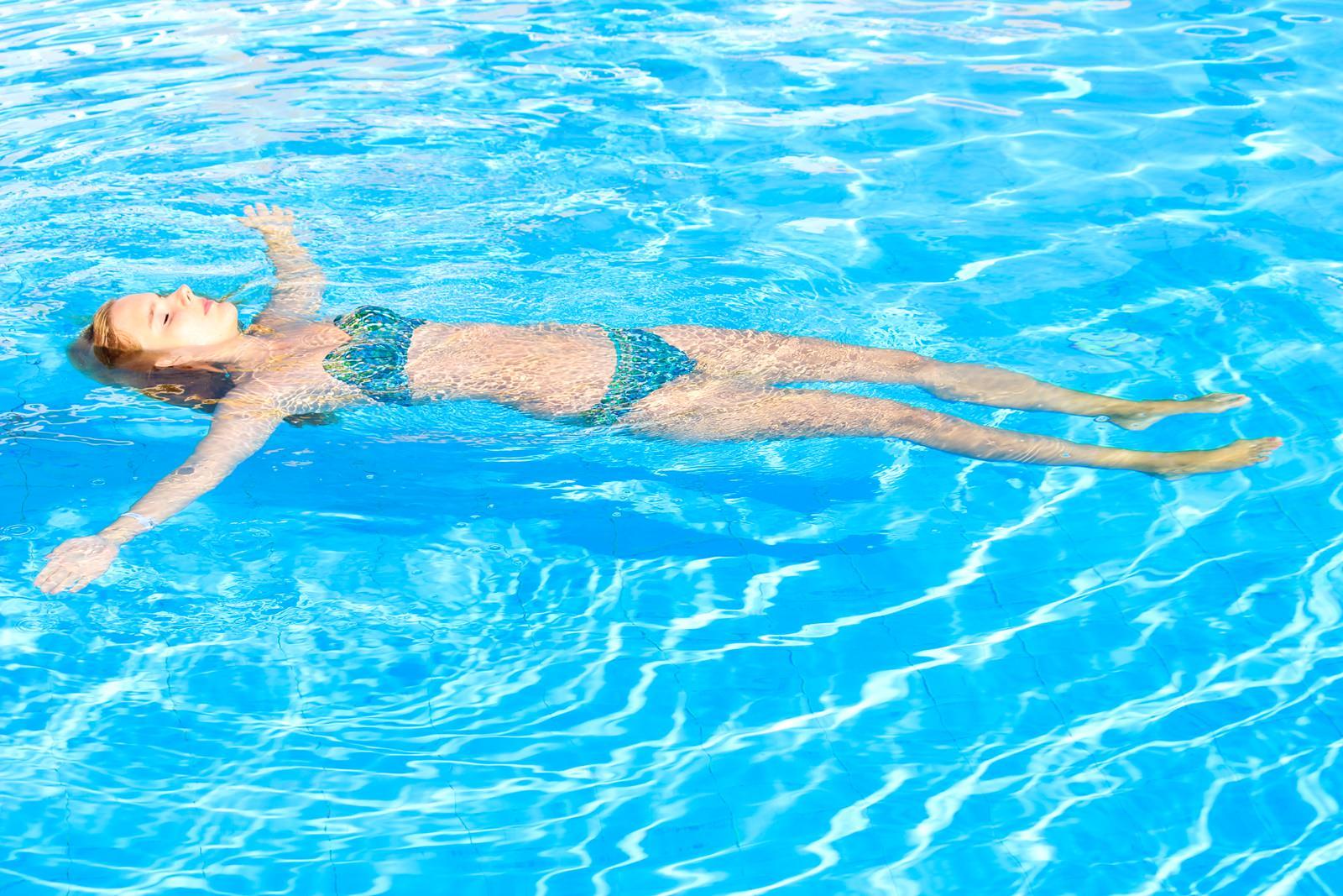 Abschalten im Pool
