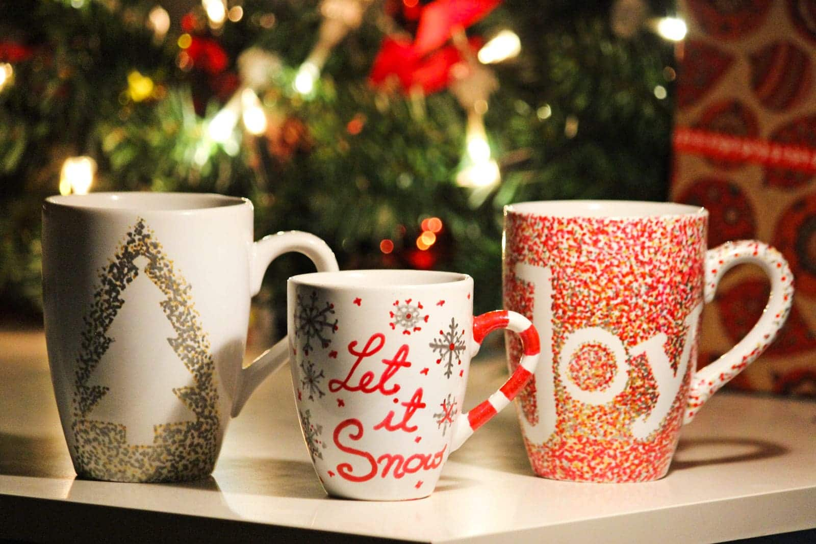 weihnachtliche diy idee meine christmas mugs des belles choses travel style blog. Black Bedroom Furniture Sets. Home Design Ideas