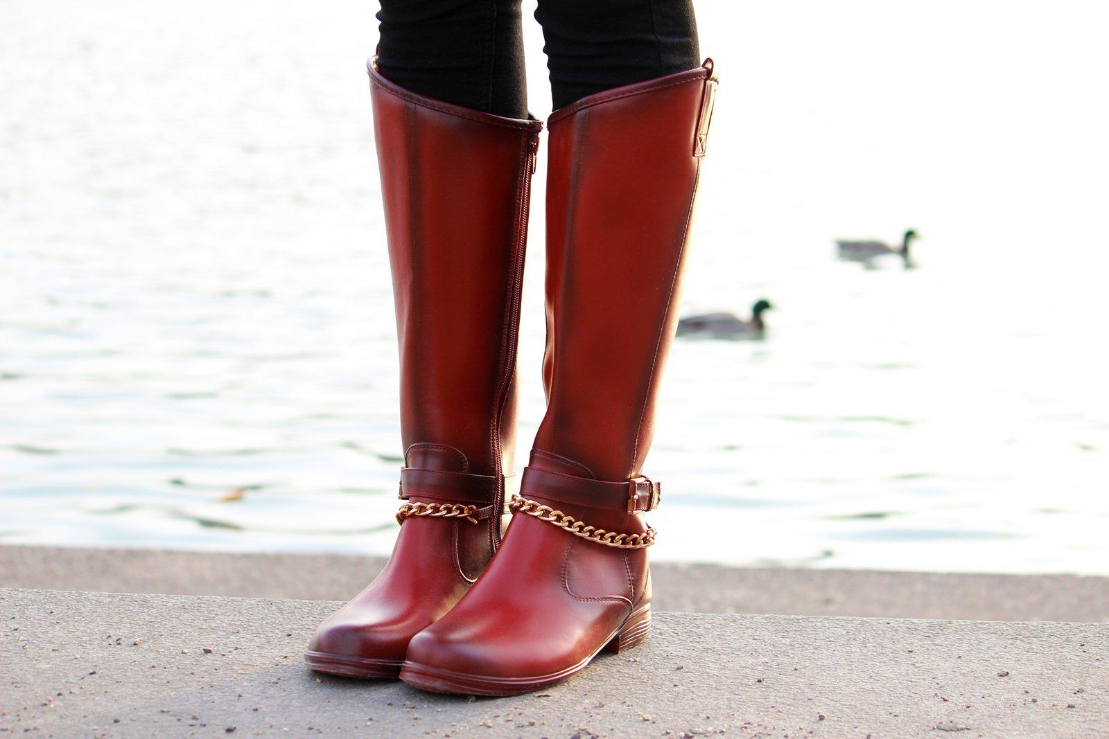 Red Boots, Biker Lederjacke, Holzfällerhemd 6
