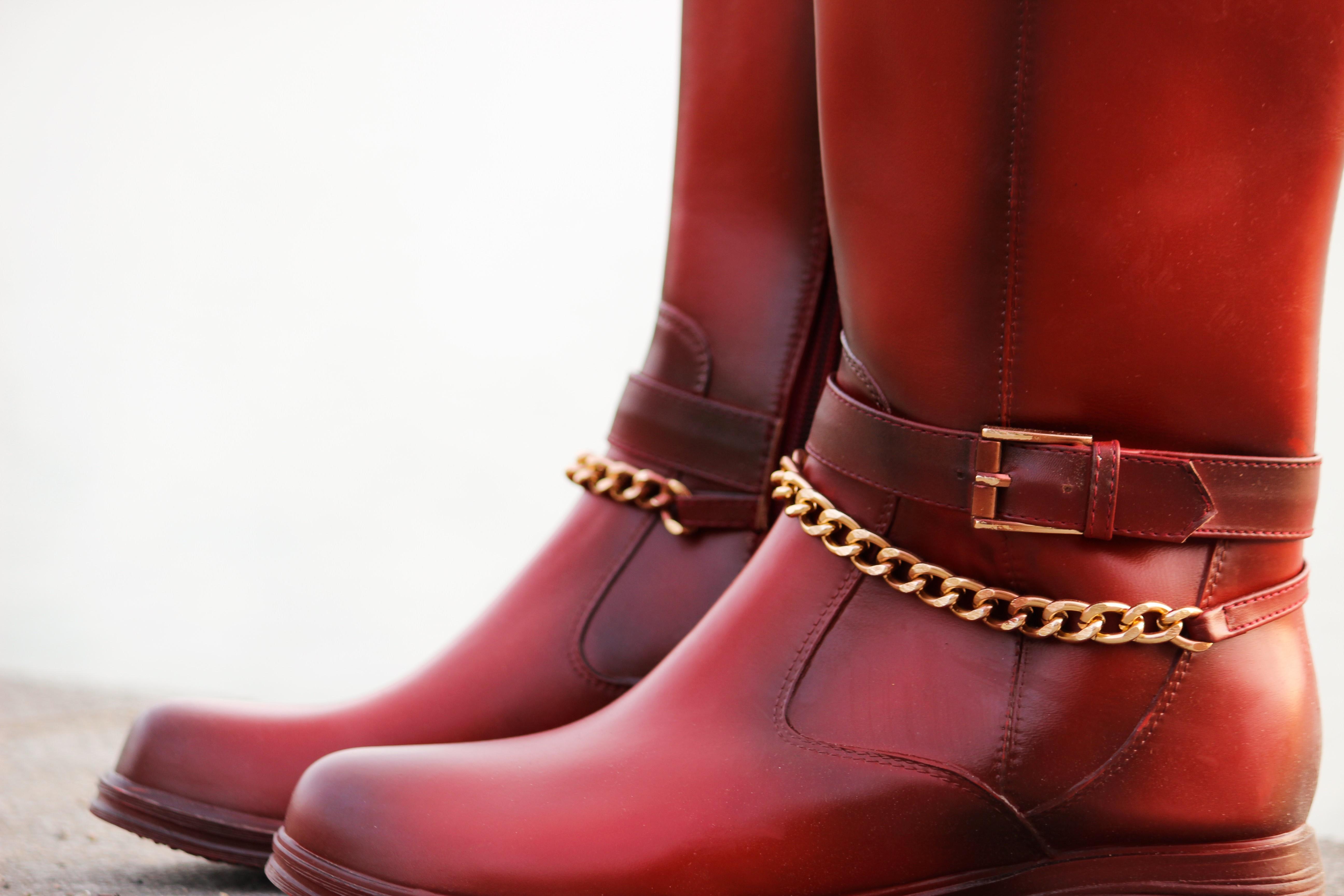 Red Boots, Biker Lederjacke, Holzfällerhemd 9