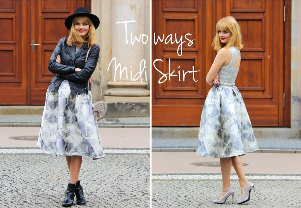 MBFW Berlin - Two Ways Midi Skirt