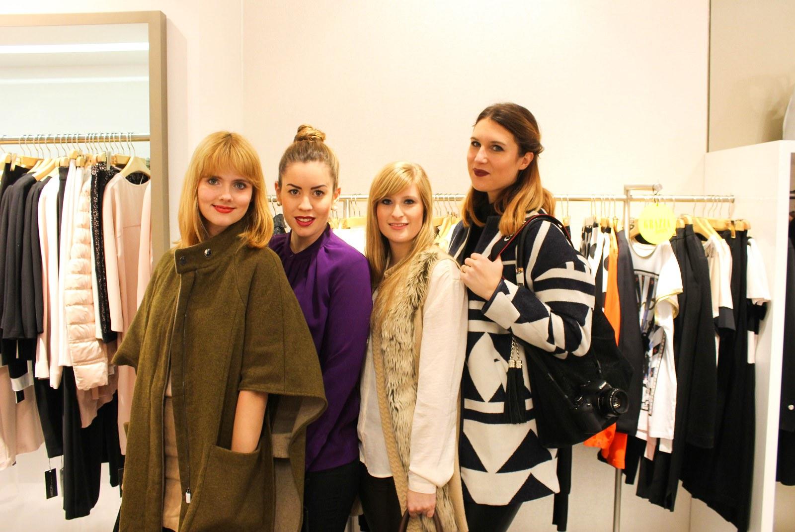 Gruppenfoto mit den Mädels: Emilie, Sabrina und Rabea