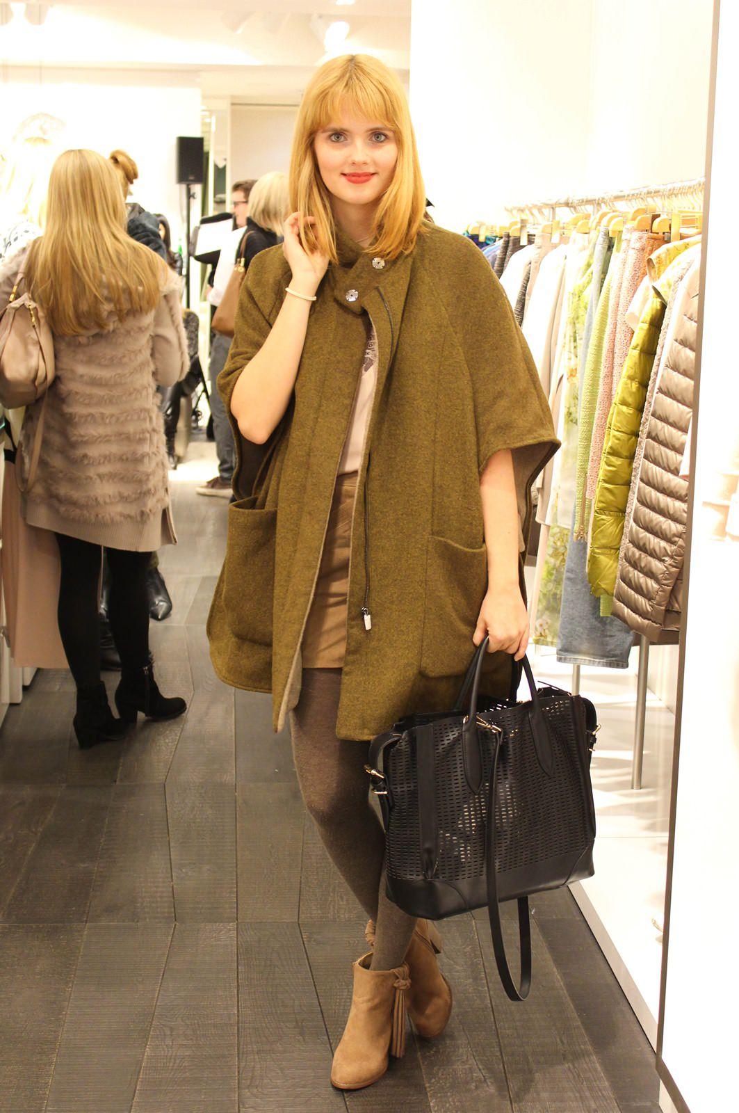 Mein Outfit- Cape: Zara (Sale, aktuell) / Top: H&M / Rock: Mango / Boots: Forever 21 (aktuell) / Tasche: Zara