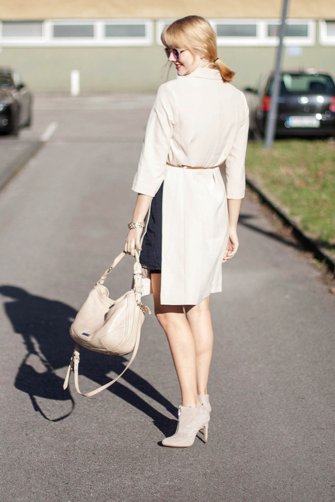 Outfit - First spring vibes - Longblazer Forever 21, Burburry Tasche,  Le Specs Hey Macarena 1