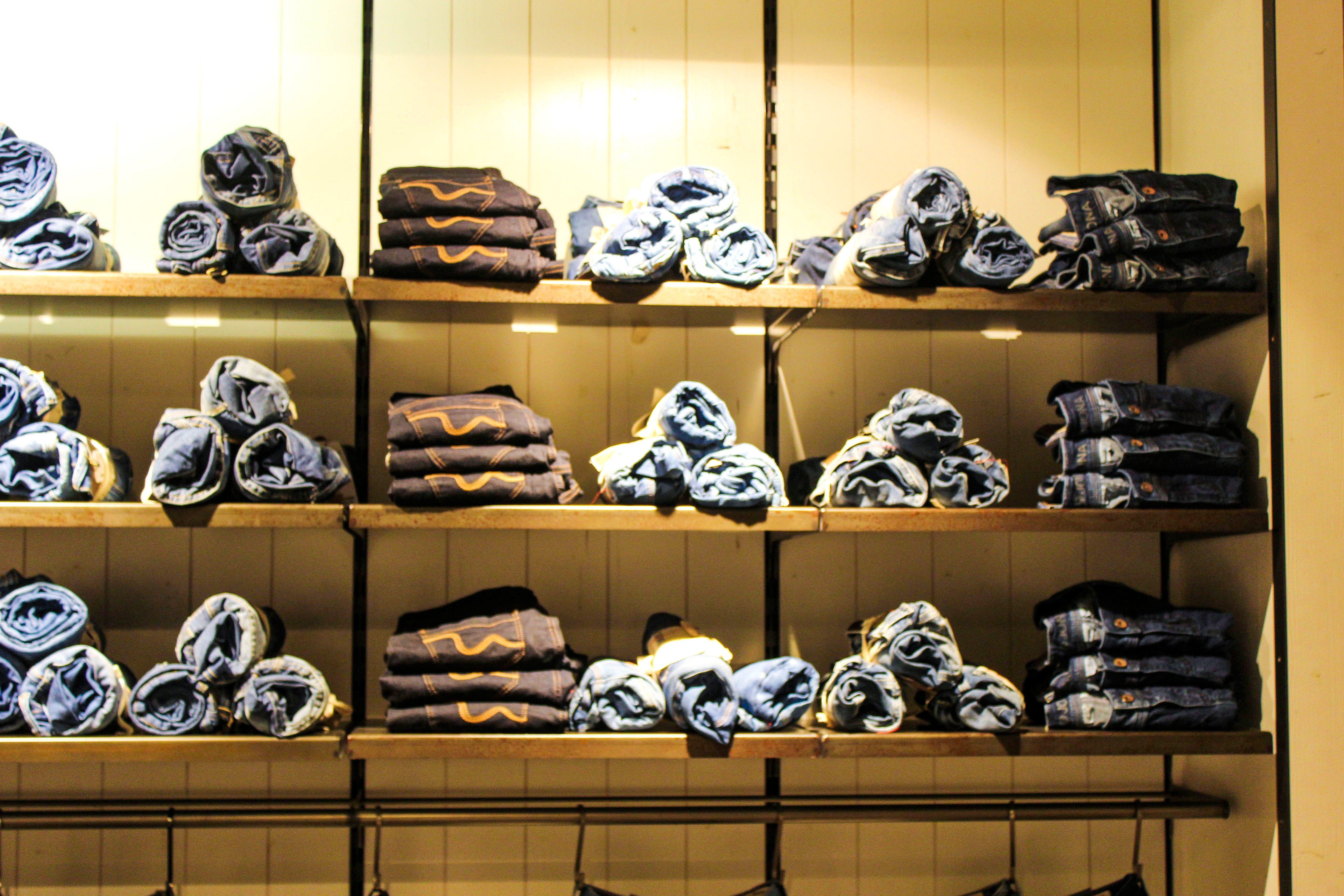 Gut inszeniert - die Jeans