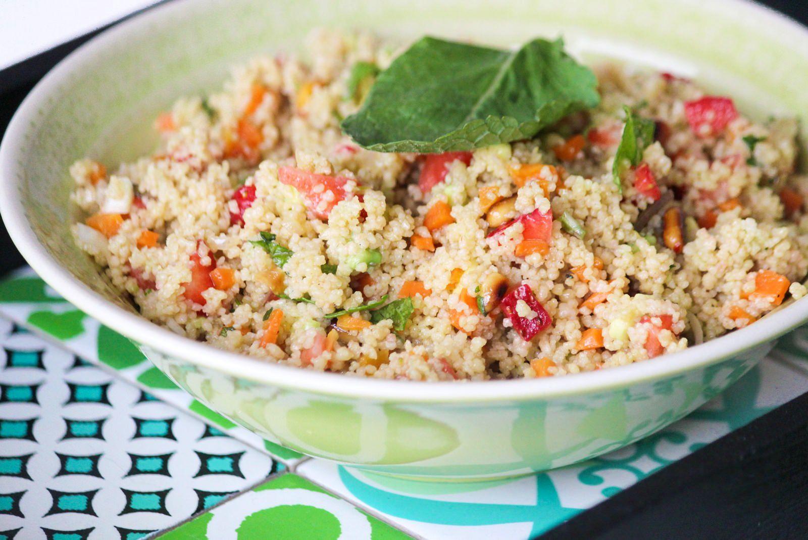 Des Belles Choses Rezept Couscous Salat mit Erdbeeren und Avocado 2