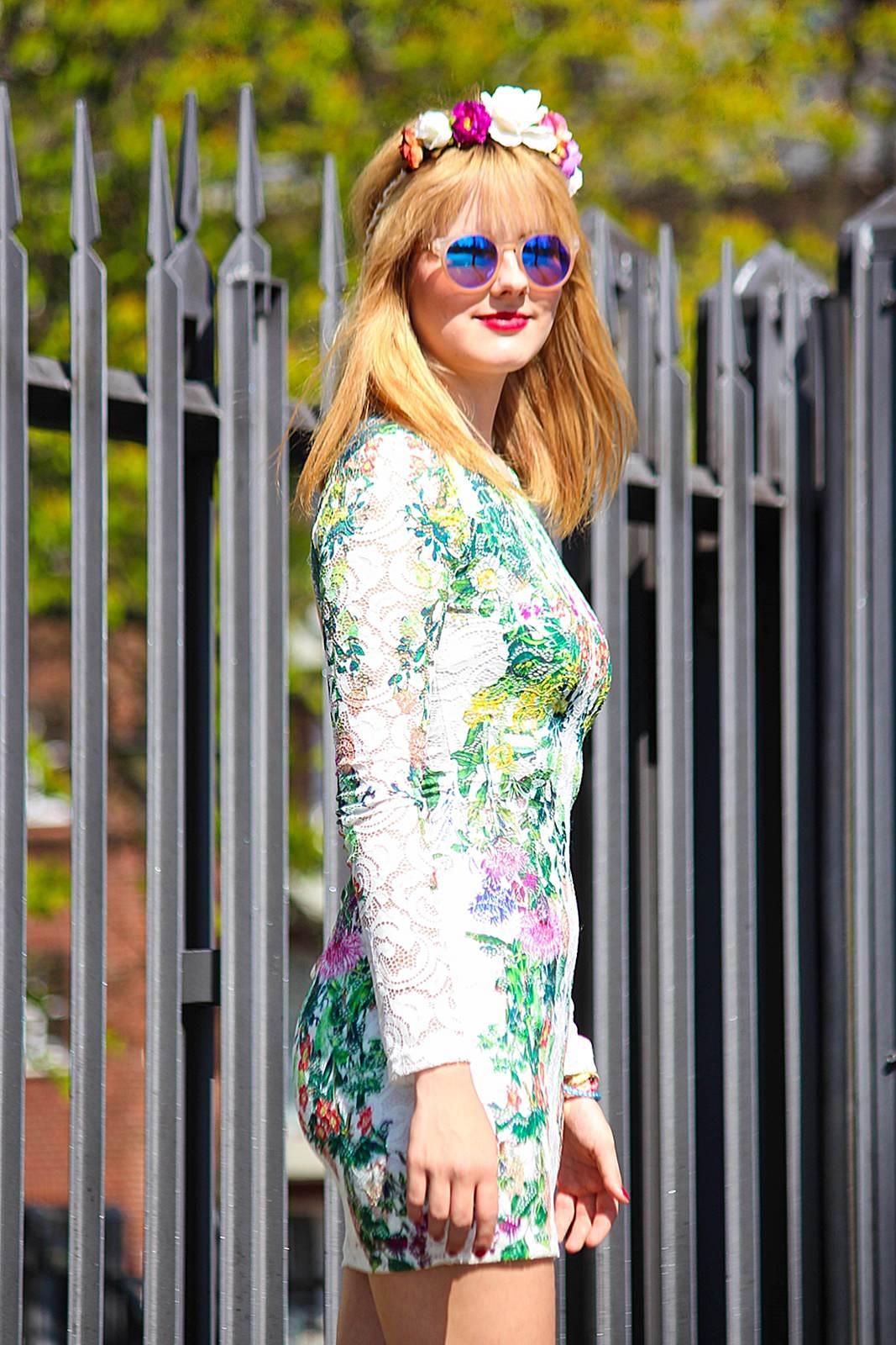 Des Belles Choses_Fashionblog Cologne_Forever 21 Flower Dress 2