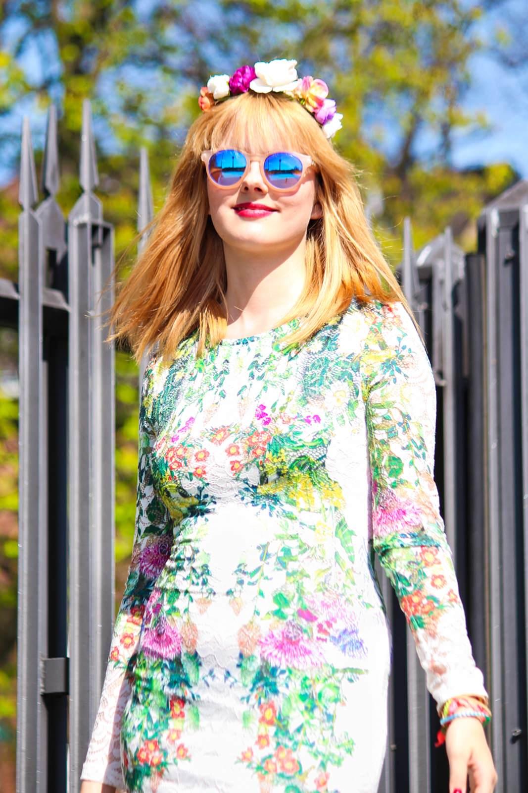 Des Belles Choses_Fashionblog Cologne_Forever 21 Flower Dress 5