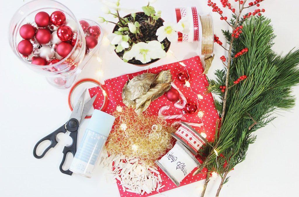 DIY für Weihnachten: Bepflanzter Nikolausstiefel mit Schneerose