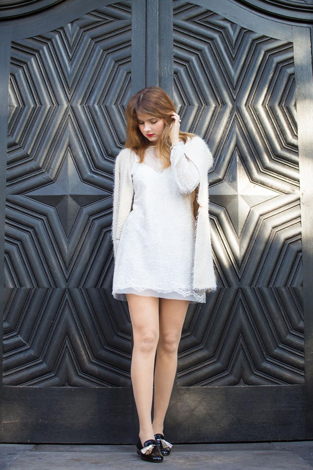 Fantastisch Weiß Silvester Partykleider Fotos - Brautkleider Ideen ...