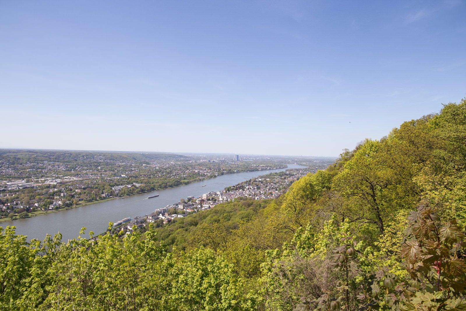 Blick vom Drachenfels bis Köln