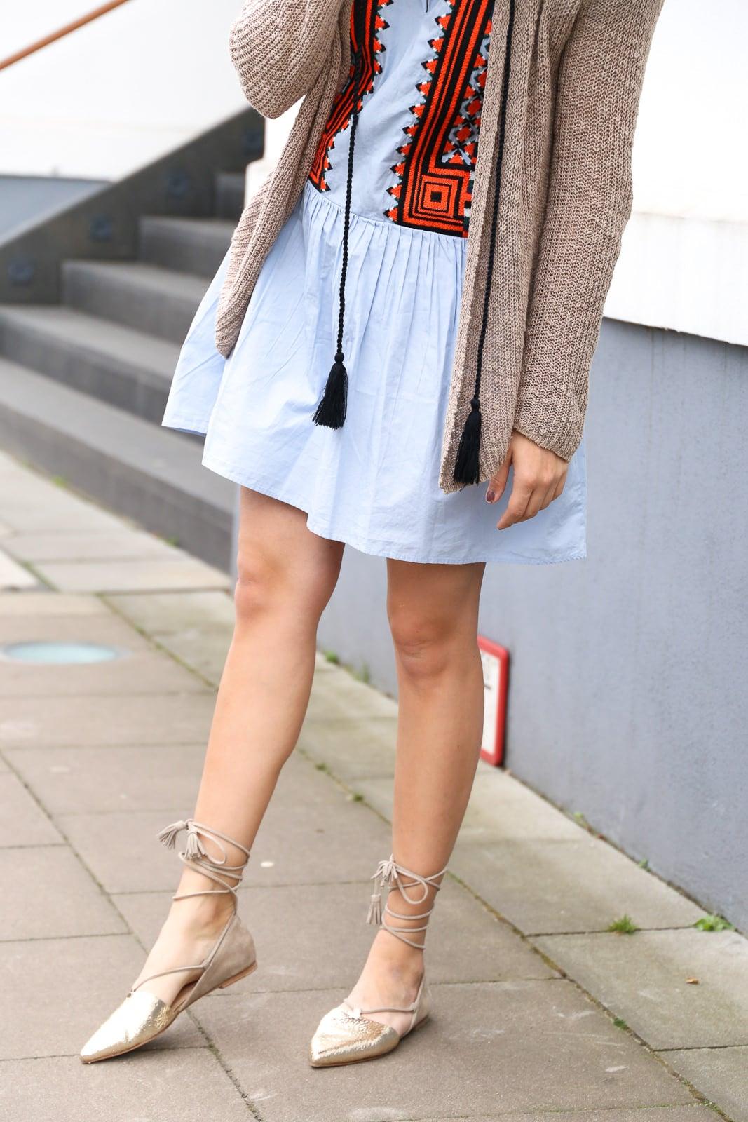 Ein Kleid - zwei Looks: H&M Tunikakleid mit Aztkendetails