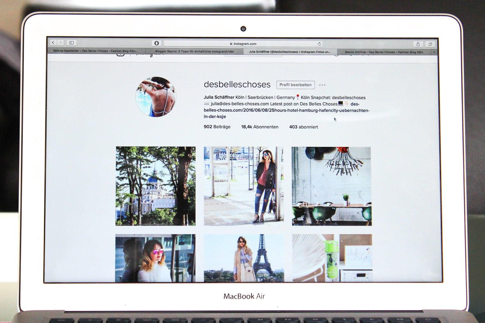 Blogger Basics: 5 Tipps für einheitliche Instagrambilder