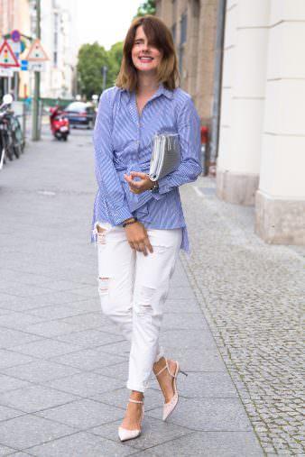 Berlin Fashion Week: Destroyed Jeans & Closet London Bluse