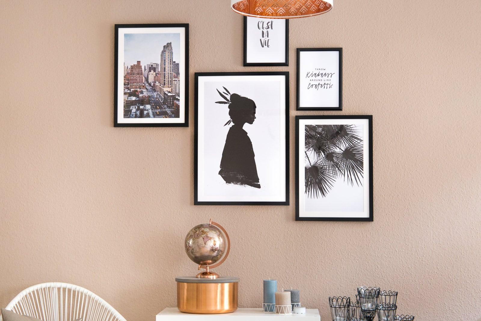 Wie du mit einer Bilderwand deine Wohnung aufpeppst!