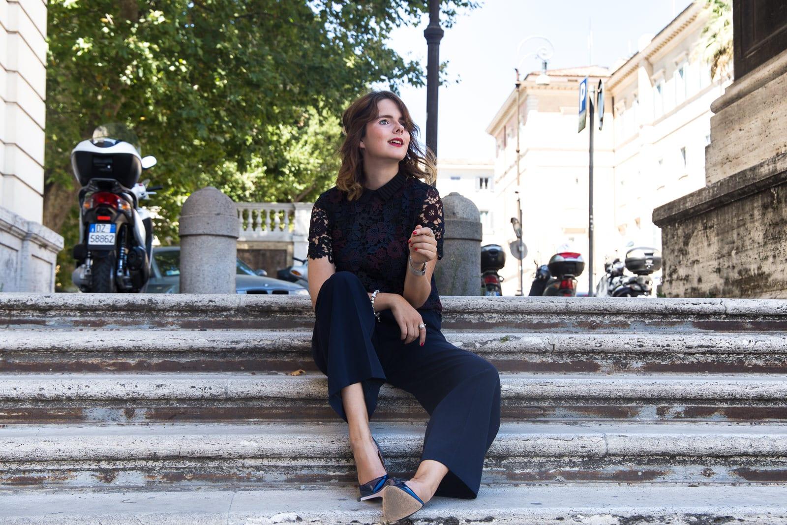 Hallhuber Marlene Hose & Spitzentop in der ewigen Stadt Rom