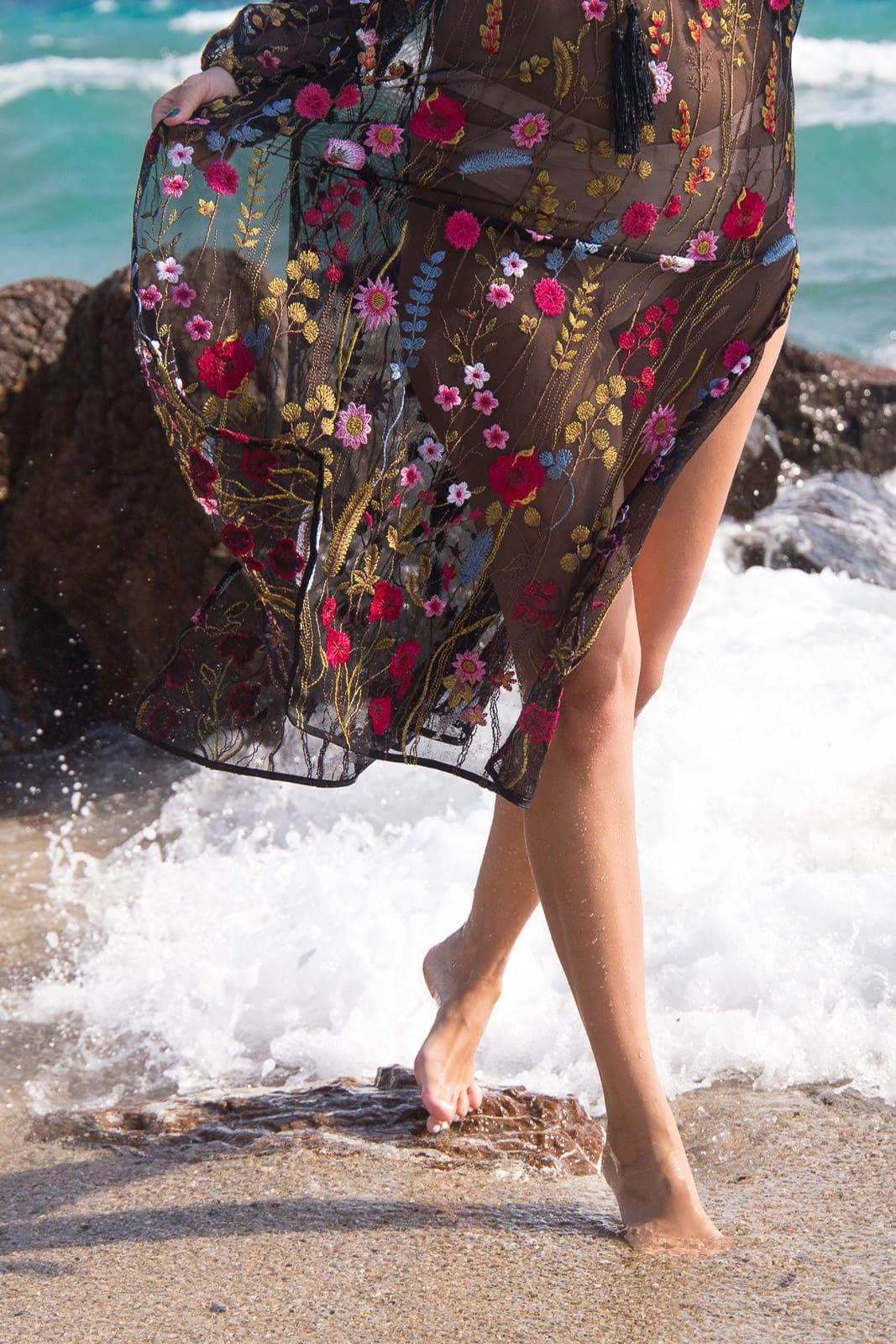 Urlaub auf Chalkidiki - Besticktes Zara Kleid in Griechenland