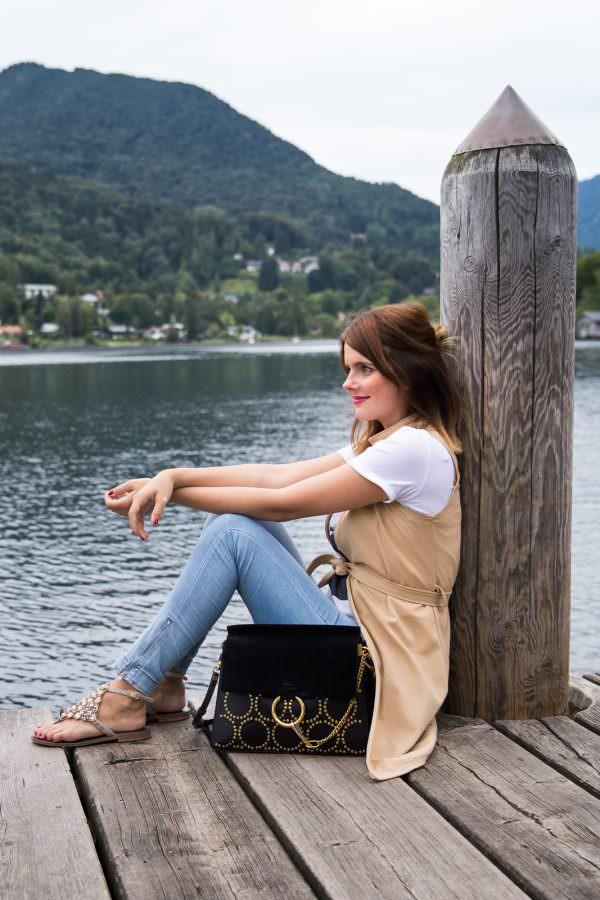 Outfit am Tegernsee: Promod x Françoise Hardy Shirt & Chloé Faye Bag