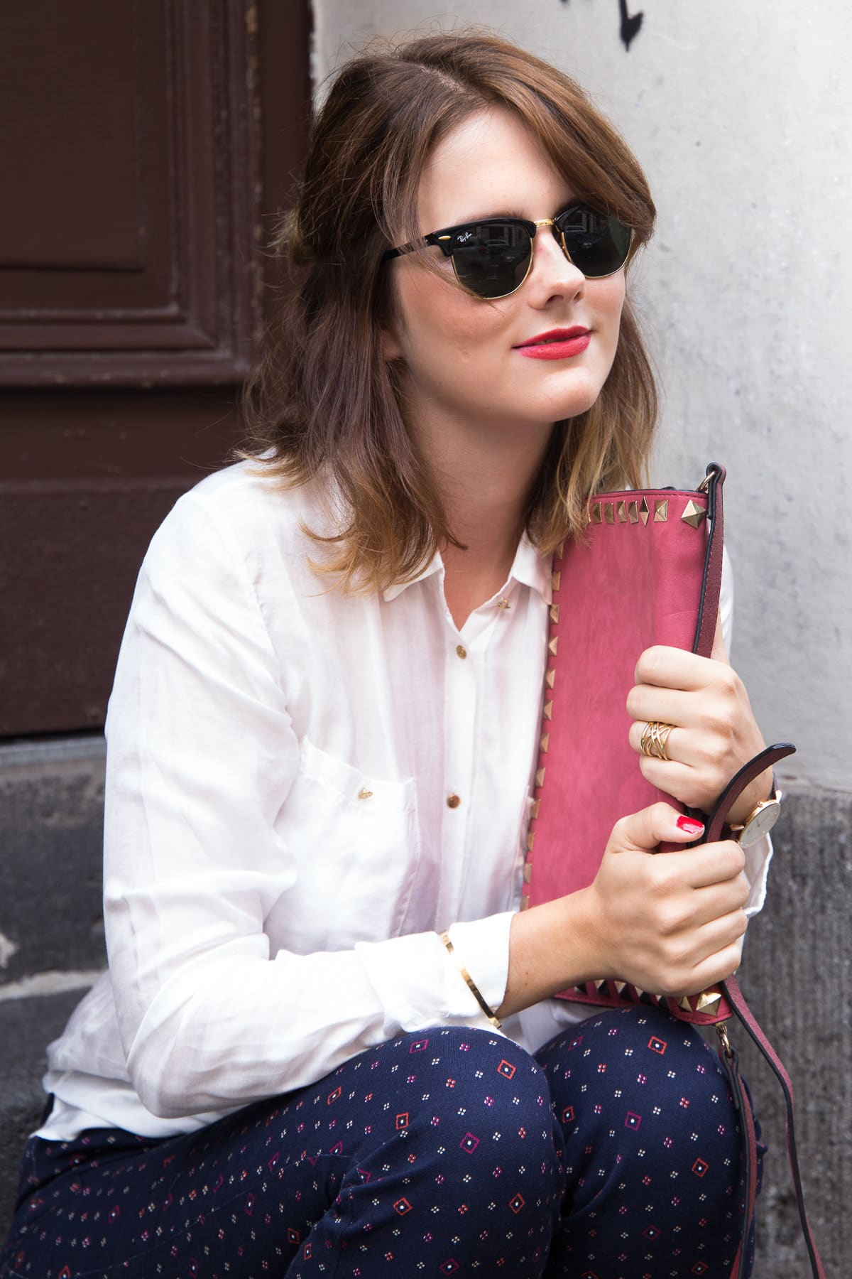 Outfit im Dandy-Style: Gemustete Hose & Brogues mit Plateau