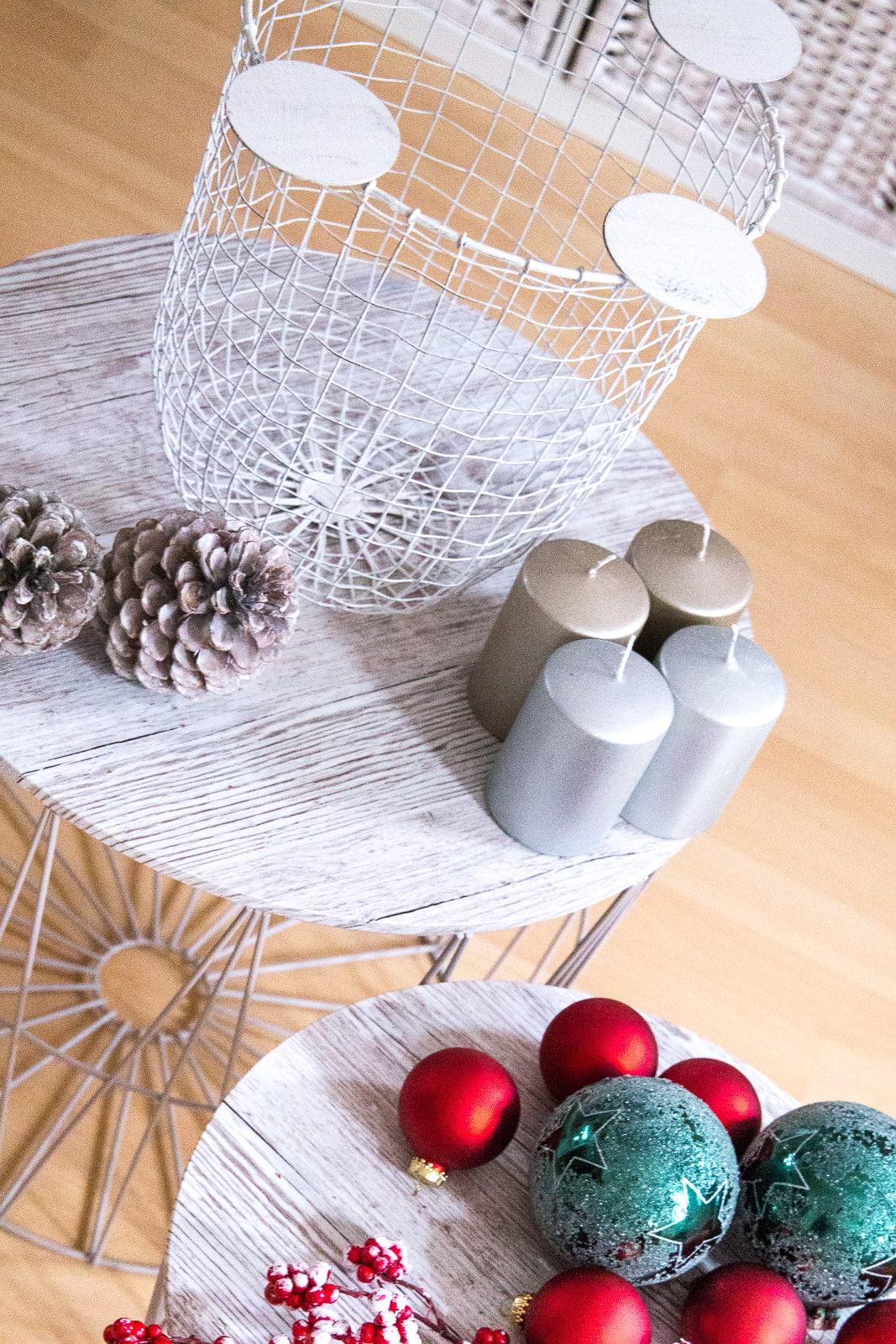 Interior DIY: Moderner Adventskranz im Korb-Style