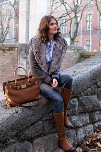 Winterliches Outfit: LTB Jeans & Leder Reiterstiefel