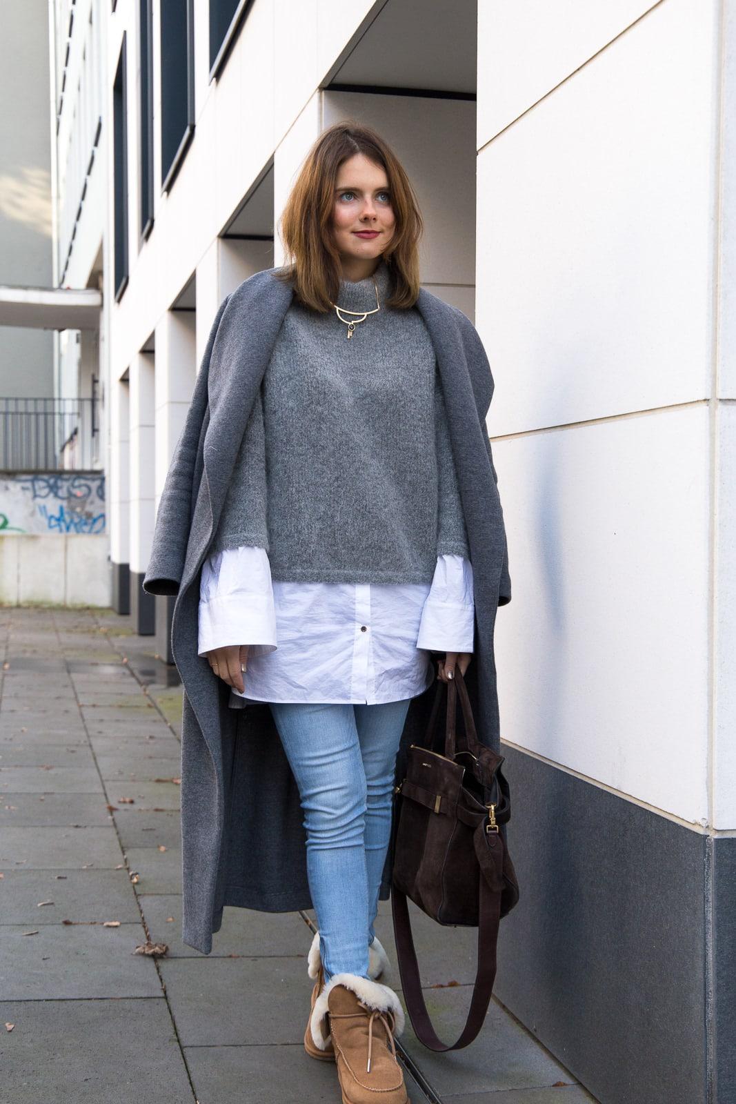 Outfit  Hallhuber Mantel   2-in-1 Oversized Pullover mit Ärmeln in Überlänge 664f158890