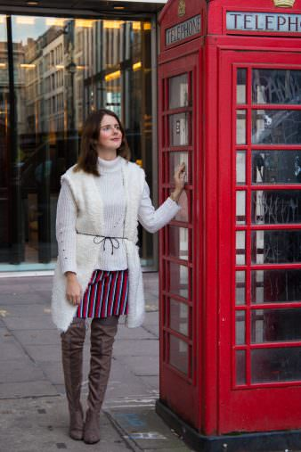 Mit Overknee Boots in London: Winter Sightseeing Look