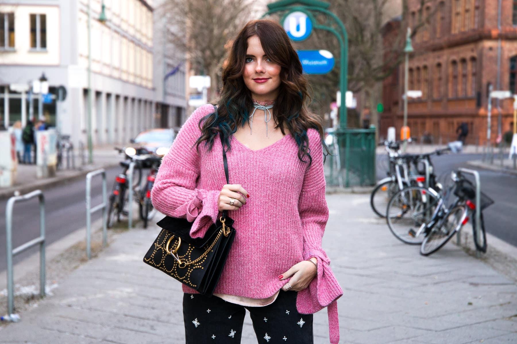 Berlin Fashion Week A/W 2017: Streetstyle mit Topshop Perlen Jeans