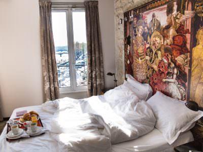 Hotel Notre-Dame Saint Michel: Hotelzimmer mit Blick auf Notre Dame