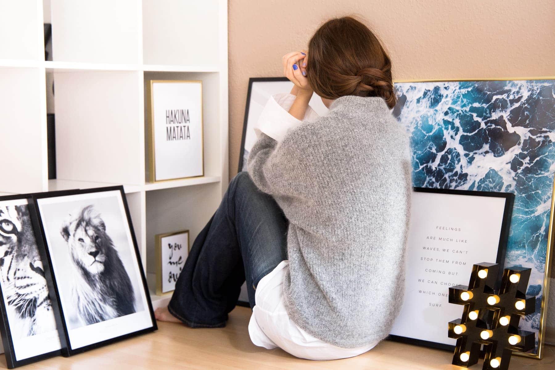 We're moving - Alles rund um die neue Wohnung & meine Ideen - Posterwand mit Desenio Postern