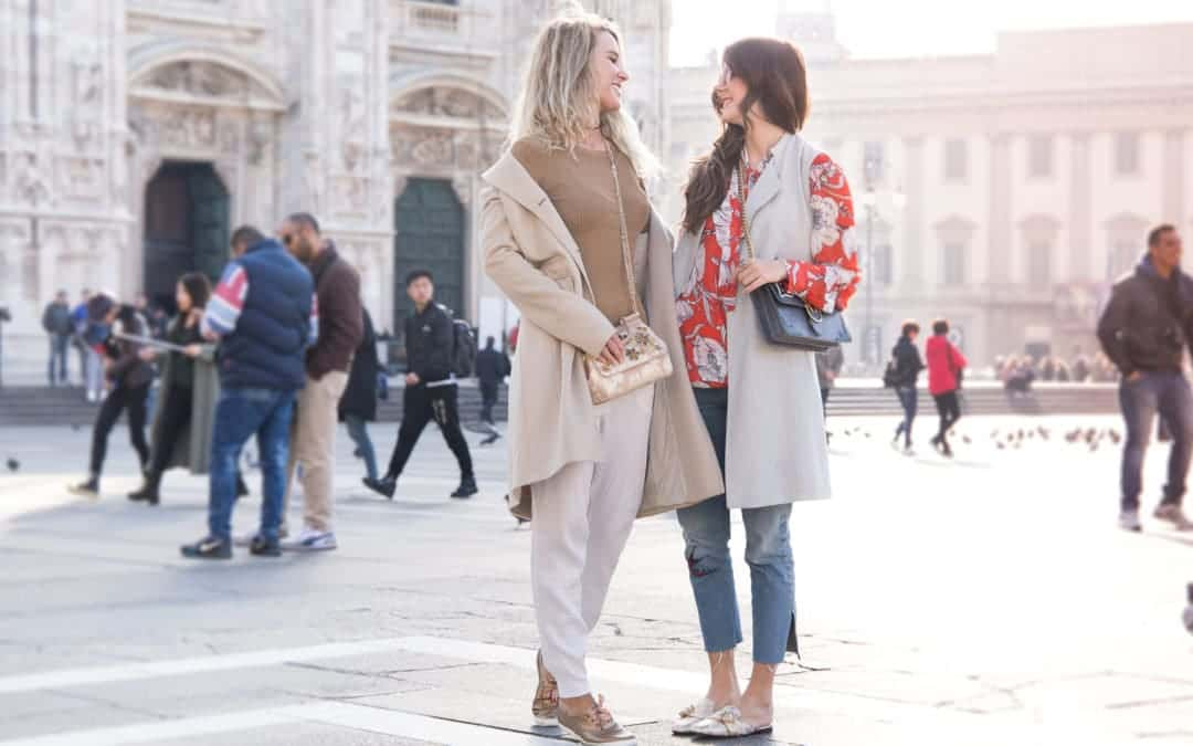 Streetstyle Milano Duomo mit Cropped Jeans