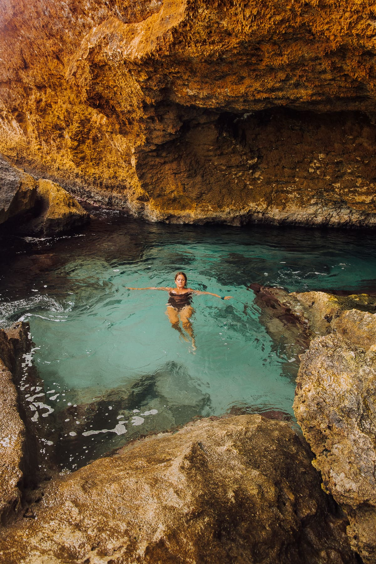 Conchi Natural Pool auf Aruba an der Nordküste der Karibikinsel