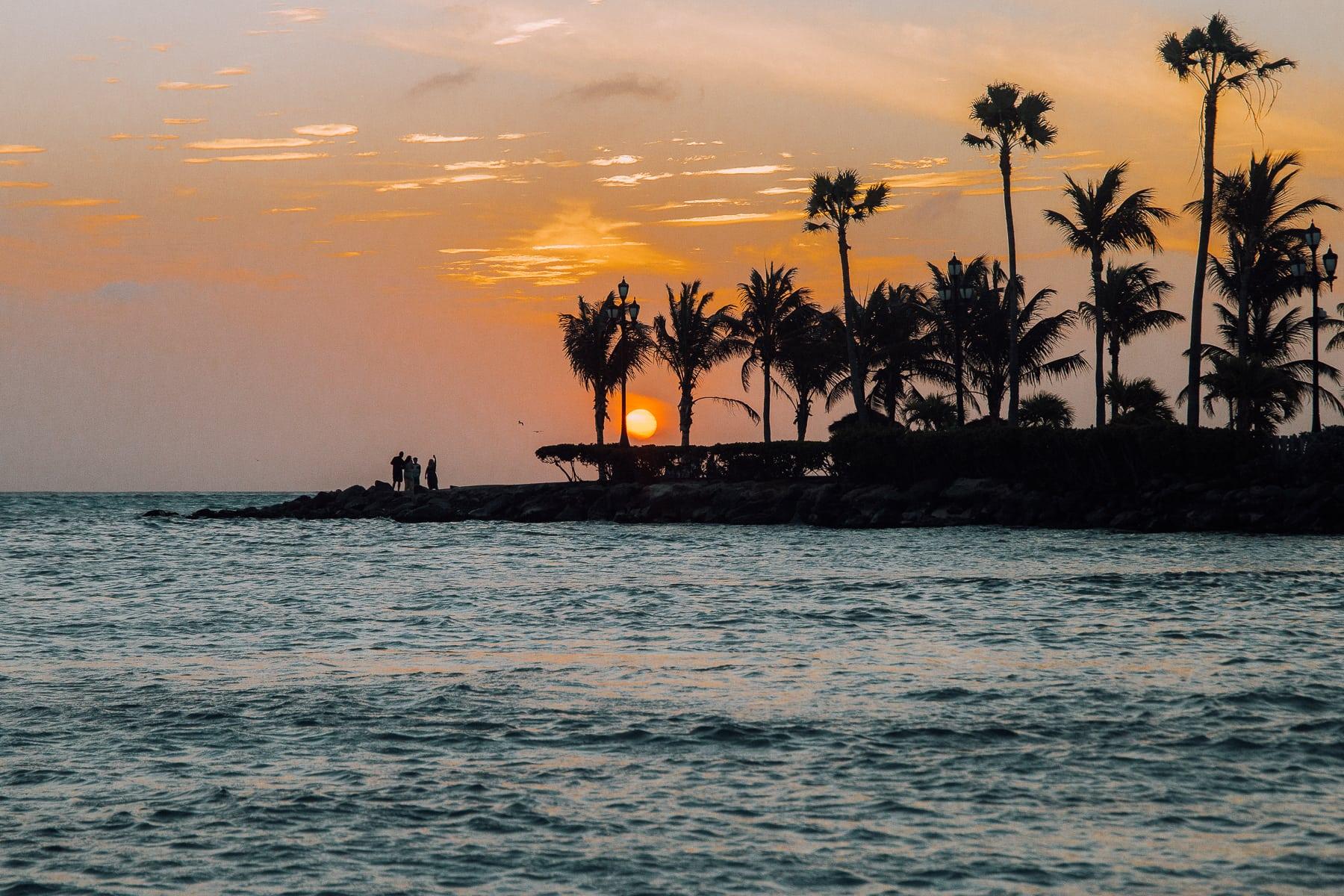 Die 5 schönsten Strände auf Aruba. Palm Beach.
