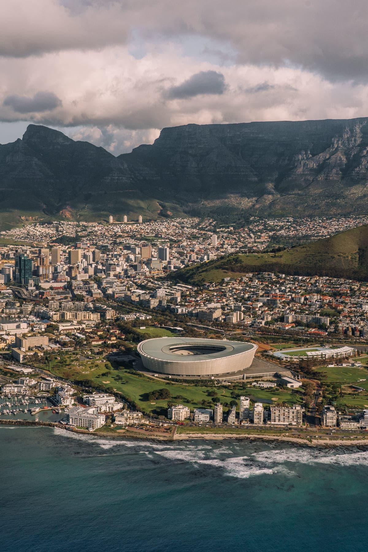 Helikopterflug über Kapstadt