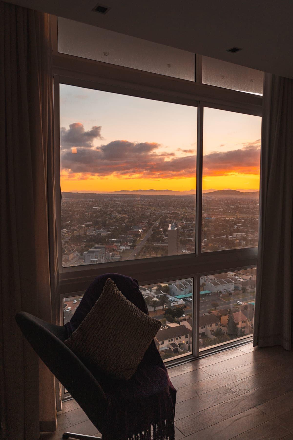 Kapstadt Hotel Tipp mit Blick auf die Stadt