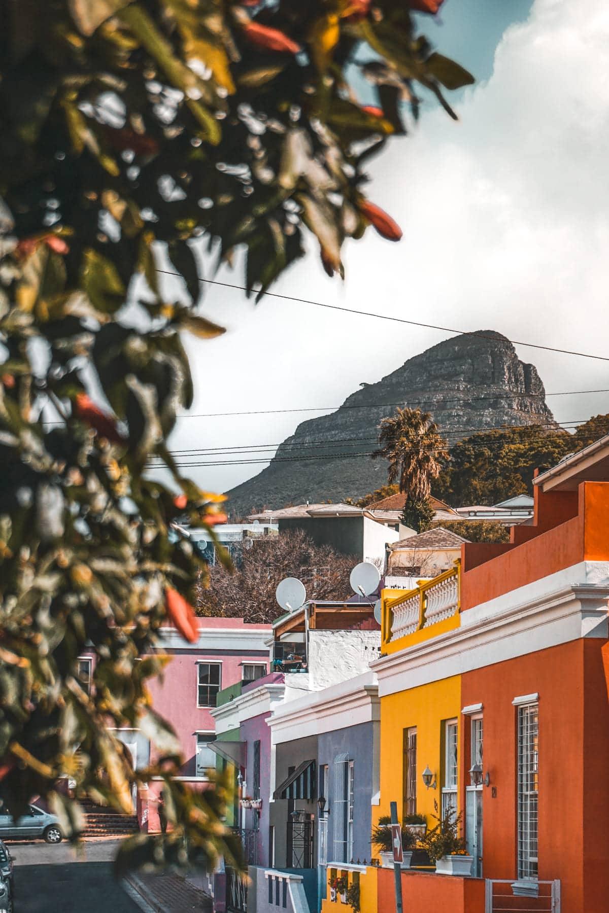 Die Stadtviertel von Cape Town entdecken - Die bunten Häuser in Bo-Kaap