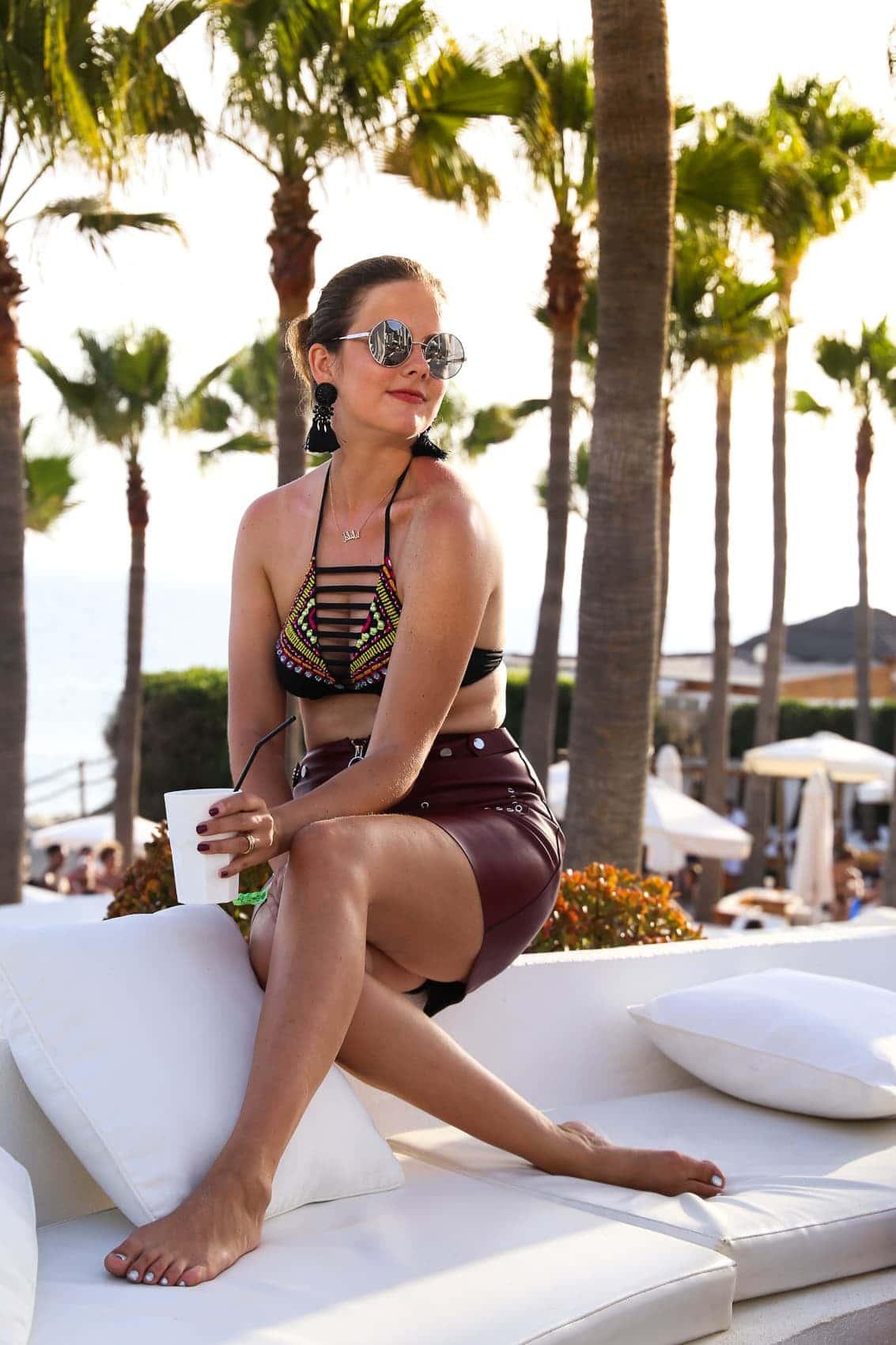 Meine Bikinis Trends 2017 und wo ihr sie im Sale nachshoppen könnt: Calzedonia Bikini in Marbella, Nikki Beach Club