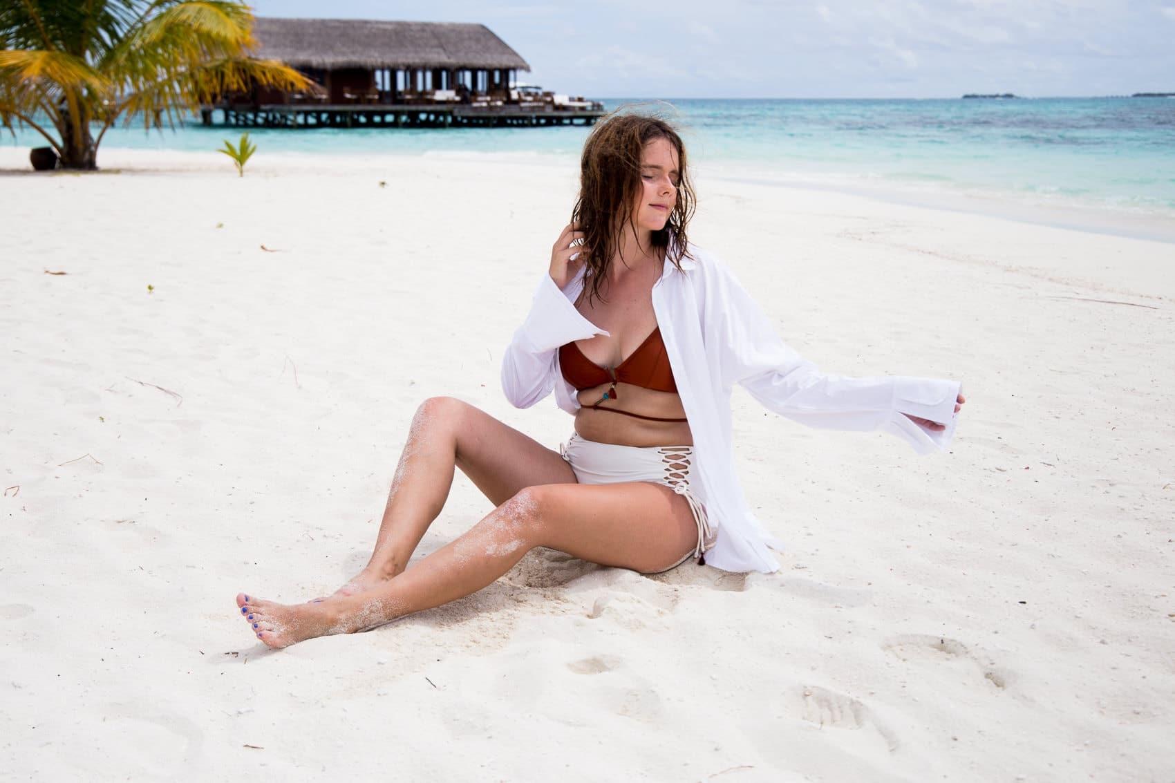 Meine Bikinis Trends 2017 und wo ihr sie im Sale nachshoppen könnt: Hunkemöller Doutzen Bikini auf Mirihi, Malediven