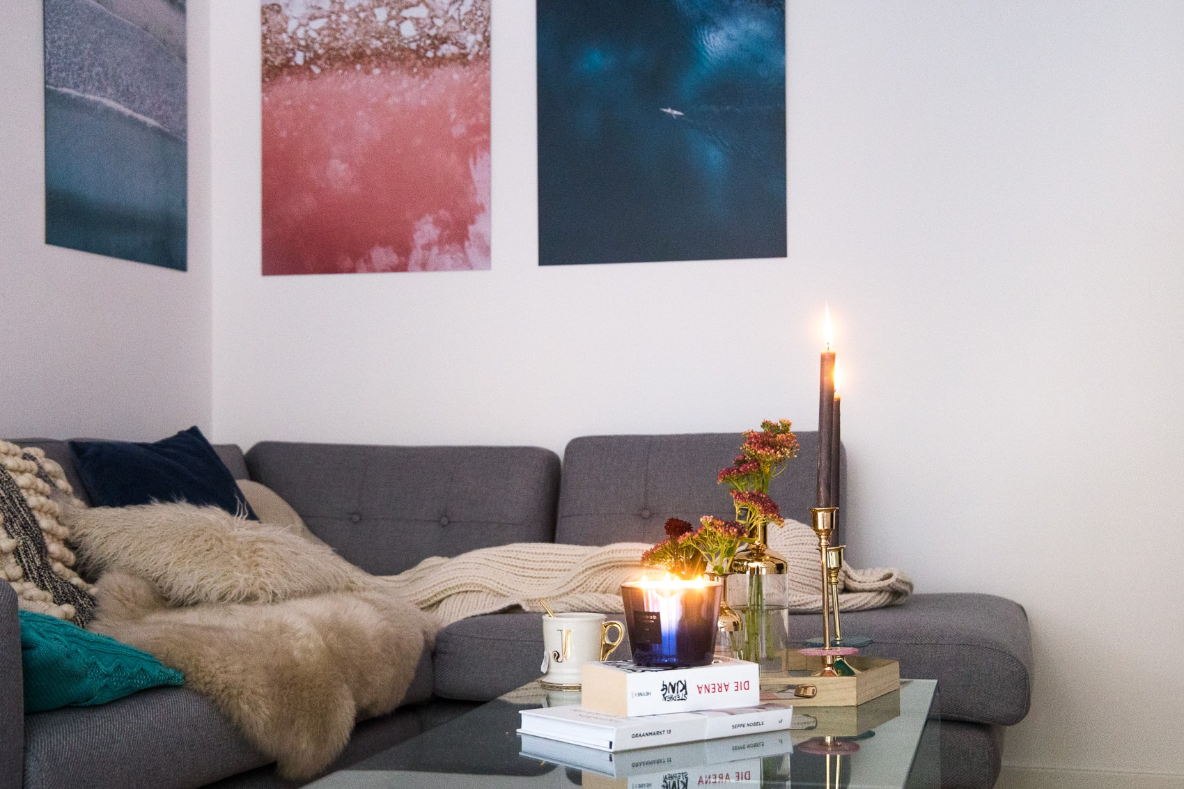 interior ideen f r den winter alu dibond bilder von juniqe. Black Bedroom Furniture Sets. Home Design Ideas