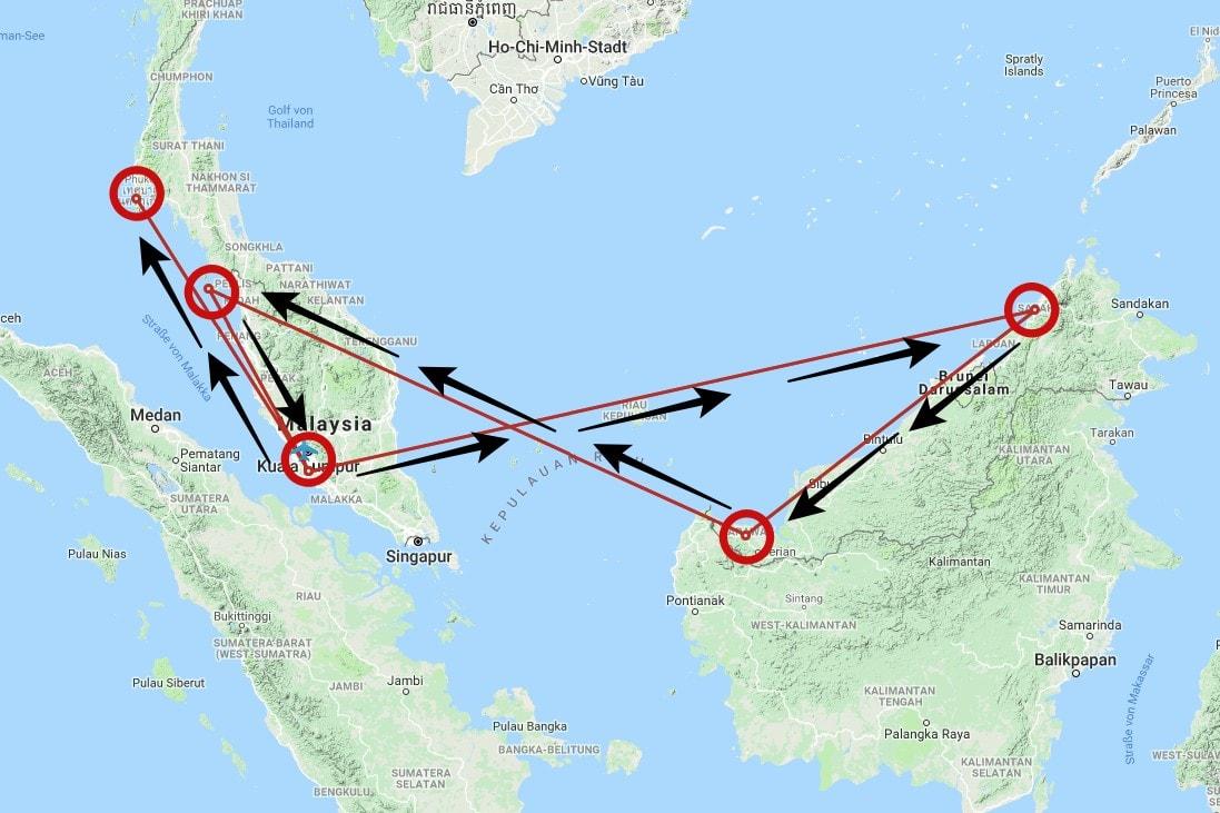 Unsere Malaysia Rundreise - Reisebüro, Planung & Route