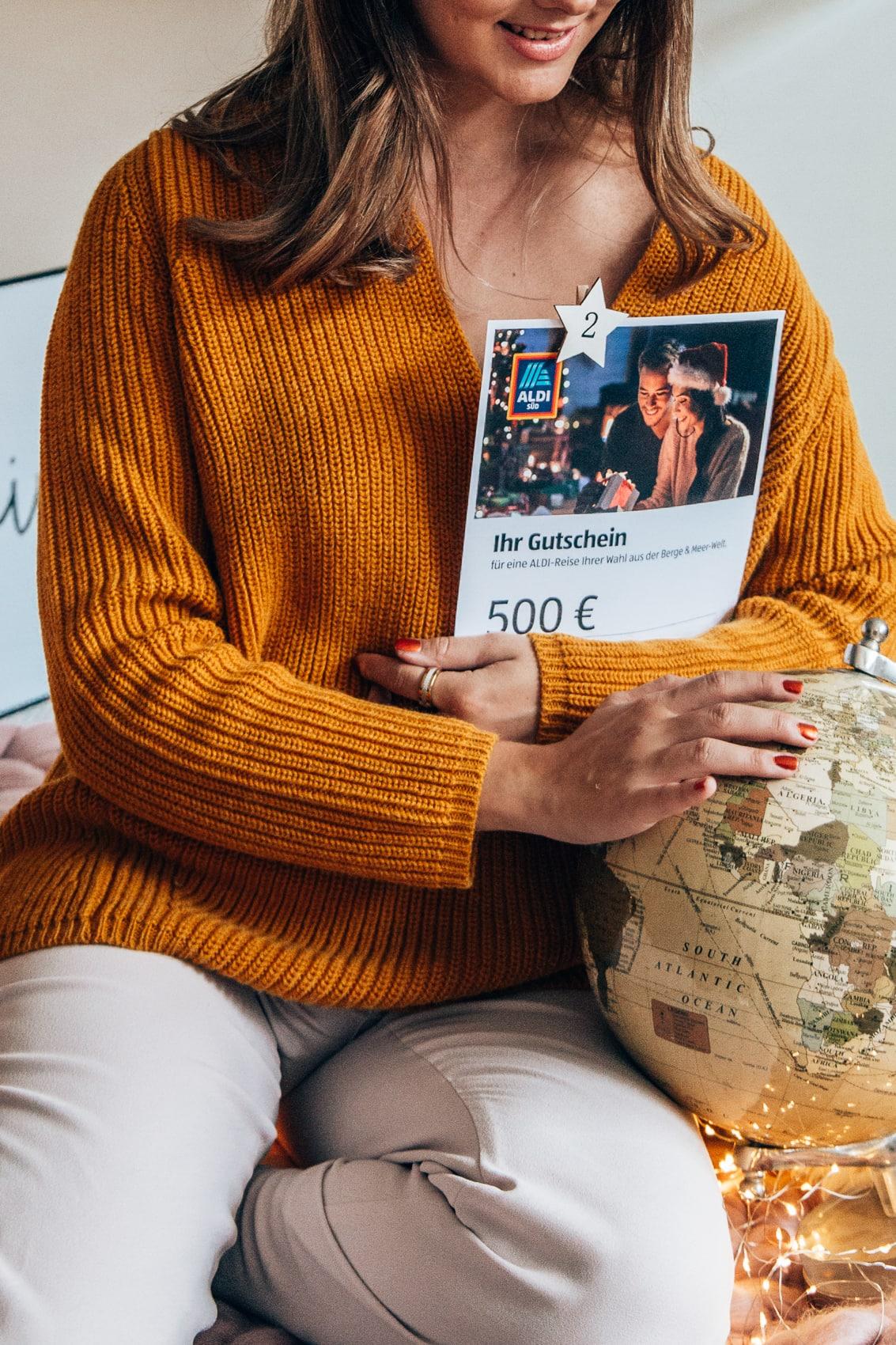 Adventskalender Türchen 2: 1000 Euro Reisegutschein von Aldi
