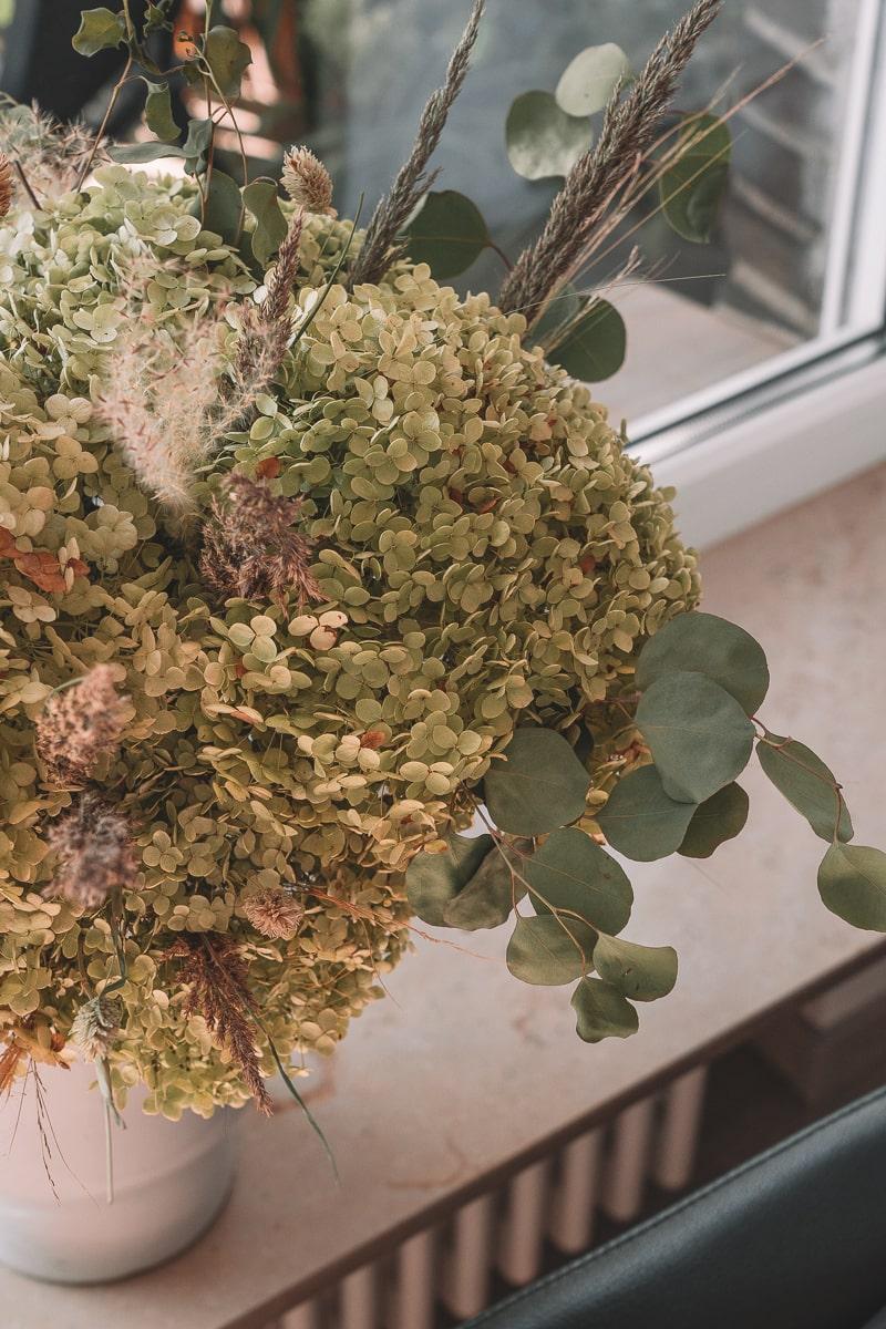 Herbst DIY- getrockneter Hortensienstrauß