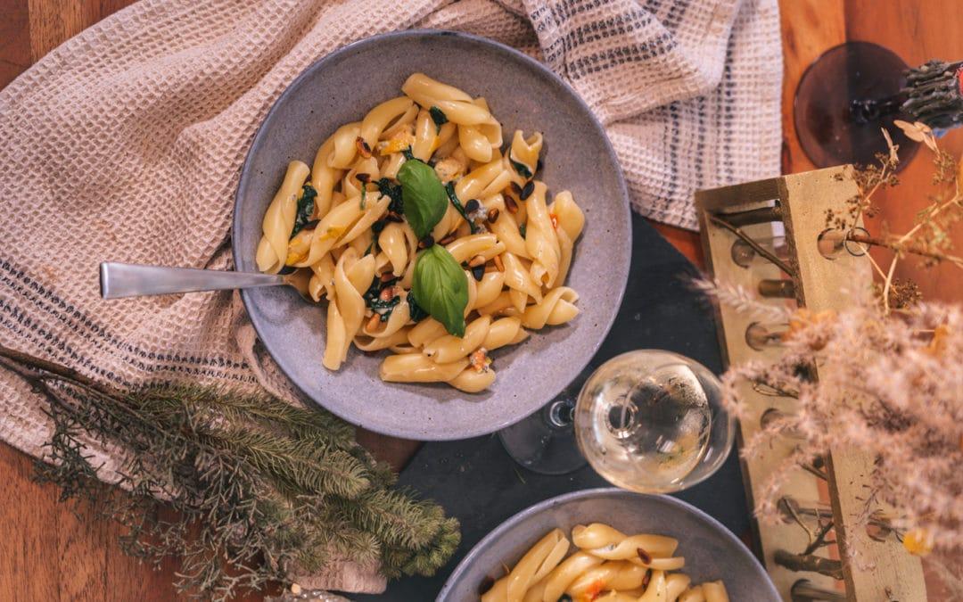Rezept mit Fourme d'Ambert – Nudeln mit Blauschimmelkäse